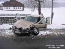 Verkehrsunfall Transporter in Löschteich