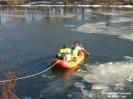 2018.02.25 Ente festgefroren Fluß Regen